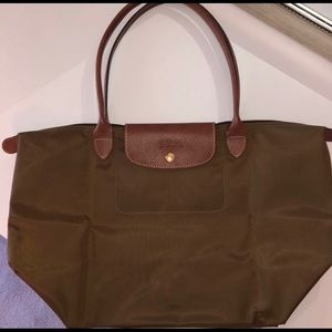 Authentic Longchamp Le Pliage brown Large bag